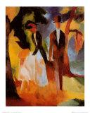 Leute am Blauen See Posters by Auguste Macke