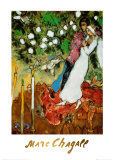 Die drei Kerzen Poster von Marc Chagall