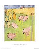 Pigs Print by Lindsay Kelsall
