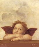 Les chérubins, détail de La Vierge de St Sixte, vers 1514 Affiche par  Raphael