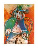 Vieil Homme Assis Mougins 1970 Posters par Pablo Picasso