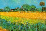 Zicht op Arles met irissen Posters van Vincent van Gogh
