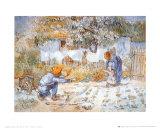 Les premiers pas (d'après Millet) Poster par Vincent van Gogh