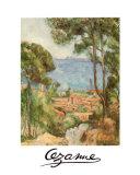 L'Estaque a Villa D'jf Prints by Paul Cézanne