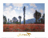 Campo de amapolas  Póster por Claude Monet