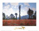 Vallmofält Poster av Claude Monet