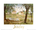 Village on the Banks of the Seine Poster by Alfred Sisley
