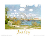 Bougival Prints by Alfred Sisley