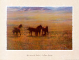 Mares and Foals Poster by Colleen Howe