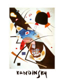 Two Black Spots Print by Wassily Kandinsky
