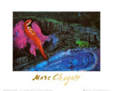 Bridge over the Seine Posters by Marc Chagall