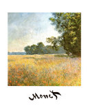 Oat Fields Posters por Claude Monet