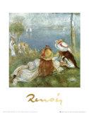 Ragazze in Riva al Mare, c.1894 Art by Pierre-Auguste Renoir