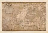 Weltkarte Poster von Gerardus Mercator