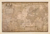 Map of the World Posters by Gerardus Mercator