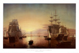 Boston Harbor Print by Fitz Hugh Lane