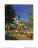 Garden in Bloom Poster por Claude Monet