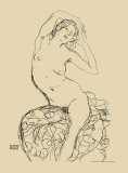 Seated Nude, c.1914-16 Prints by Gustav Klimt