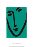 Visage Sur Fond Vert Serigraph by Henri Matisse