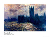 Londres de Parlement Prints by Claude Monet