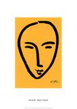 Visage Sur Fond Jaune Sérigraphie par Henri Matisse