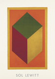 Cube, 1991 (Orange) Serigraph by Sol Lewitt
