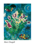 Nature morte aux fleurs Poster by Marc Chagall