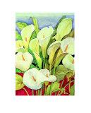 Arum Lilies Prints by Lillian Delevoryas