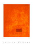 Untitled, c.1991 (Orange) Serigraph by J&#252;rgen Wegner
