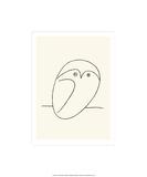 Gufo|Owl Serigrafia di Pablo Picasso