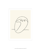 Uggla Screentryck av Pablo Picasso