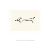 Hunden Serigrafiprint (silkscreentryck) av Pablo Picasso