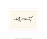 Hunden Screentryck av Pablo Picasso