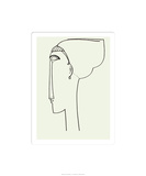 Tete de Profil, c.1911 Serigraph by Amedeo Modigliani