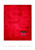 Untitled, c.1991 (Red) Serigraph by J&#252;rgen Wegner