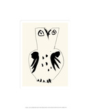 Pöllö Serigrafia tekijänä Pablo Picasso