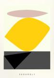 Souzon Silketrykk av Victor Vasarely