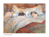 En la cama Arte por Henri de Toulouse-Lautrec