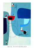 Ohne Titel, c.1956 Prints by Max Ackermann