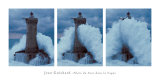 Leuchtturm mit einer Welle Poster von Jean Guichard
