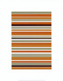 Terracotta Stripes Print by Denise Duplock