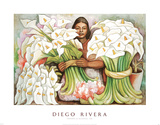 Vendedora de Alcatraces, 1938 Posters by Diego Rivera