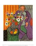 Robe violette et anémones (1937) Affiches par Henri Matisse