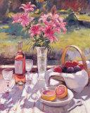 Vaaleanpunaiset kukat Posters tekijänä Edward Noott
