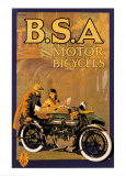 B.S.A. Motor Bicycles Posters