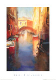 Canal with Orange Bridge Prints by Cecil Rice