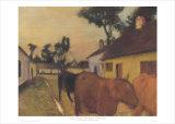 The Return of the Herd Prints by Edgar Degas