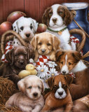 Puppies II Print by Jenny Newland