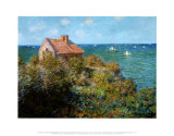 Fisherman's Cottage on the Cliffs at Var Posters by Claude Monet