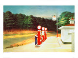 Gas 1940 Gicléedruk van Edward Hopper